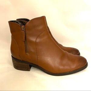 COLE HAAN Lyla Waterproof Brown Leather Bootie 8.5